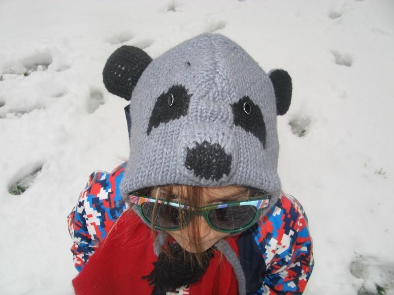 Caciula lana pentru copii < 7 ani - Panda