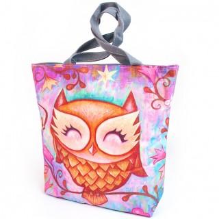 Geanta cumparaturi Sleepy Owl