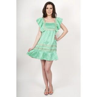 Rochie bumbac Waterton Verde XS