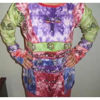 Bluza bumbac Purple Love - L
