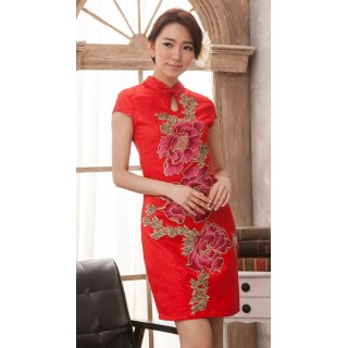 Cheongsam Flora Red