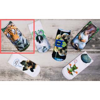 Sosete bumbac Pesail 3D - Tiger